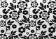 Black and White Floral Bed in a Bag Set