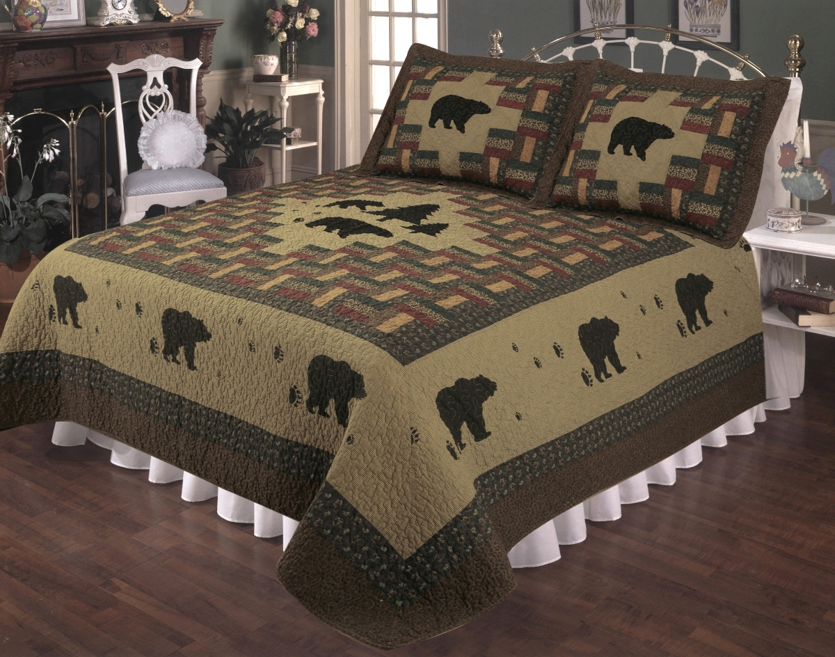 Bear Appalachian Quilt Set : black bear quilts - Adamdwight.com