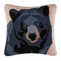 Black Bear Forest Hooked Pillow