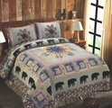 Black Bear Forest Quilt Set