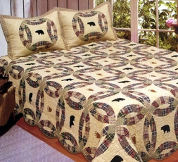 Black Bear Wedding Ring Quilt Set
