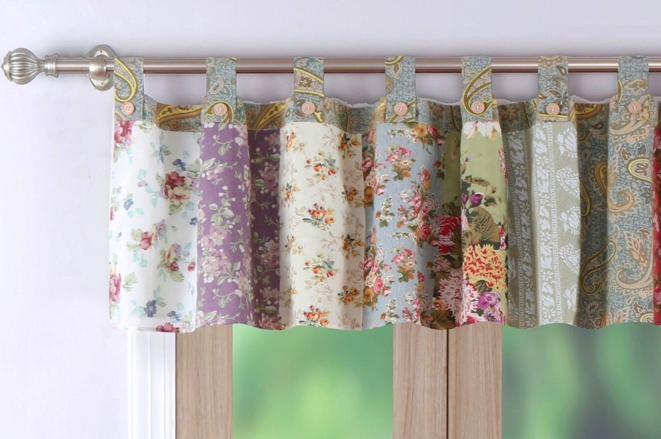 Blooming Prairie Floral Patch Valance