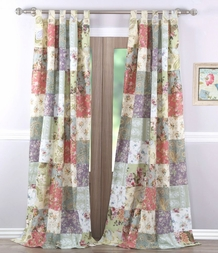 Blooming Prairie Floral Patch Window Panels (set of 2)