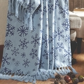 Blue Snowflakes Woven Throw