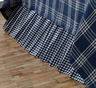 Blue & White Check Eastpointe Bedskirt