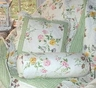 "Bonnie Garden Floral Accent Pillow 16"" sq."
