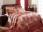 Breckenridge Red Plaid Quilt by VHC Brand