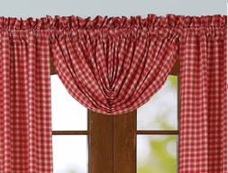Breckenridge Red Plaid Balloon Valance