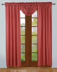 Breckenridge Red Plaid Drapery Panels