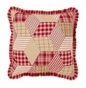 Breckenridge Red Plaid Quilted Pillow