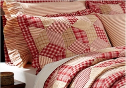 Breckenridge Red Plaid Standard Sham