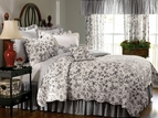 Brighton Black Toile Quilt by Williamsburg