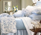 Brighton Blue Toile Quilt by Williamsburg