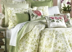 Brighton Green Toile Quilt by Williamsburg