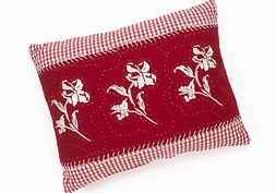 Brighton Red Embroidered Pillow (1 LEFT)