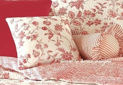 Brighton Red Quilted Pillow by Williamsburg
