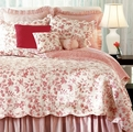 Brighton Red Toile Quilt by Williamsburg