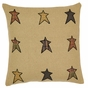 Stratton Star Rustic Cabin Burlap Pillow