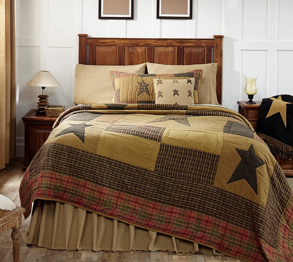 Stratton Brown Star Rustic Cabin Quilt