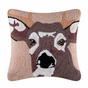 Buck Deer Antler Hooked Pillow