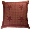 Burgundy Applique Star Euro Sham