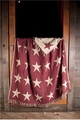 Primitive Burgundy Star Woven Throw