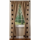 Burlap Natural Black Stars Panel Drapes (84x40)