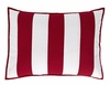 Carolina Quilted Red Stripe KING Sham