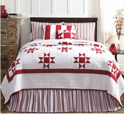Carolina Red Star Patch Quilt