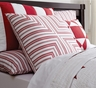 Carolina Red Stripe Euro Sham