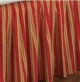 Caspienne Red Gold Stripe Bedskirt - Twin Only