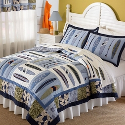 Catch a Wave Surfing Quilt Set