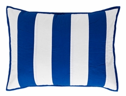 Chesapeake Quilted Blue Stripe KING Sham