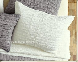 Chic Ruched White or Grey Euro Sham