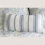 Clementina Dusk Blue Chain Stitch Pillow