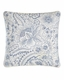 Clementina Dusk Blue Embroidered Pillow