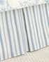 Clementina Dusk Blue Ticking Stripe Dust Ruffle by Williamsburg
