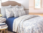 Clementina Dusk Blue Toile Quilt by Williamsburg