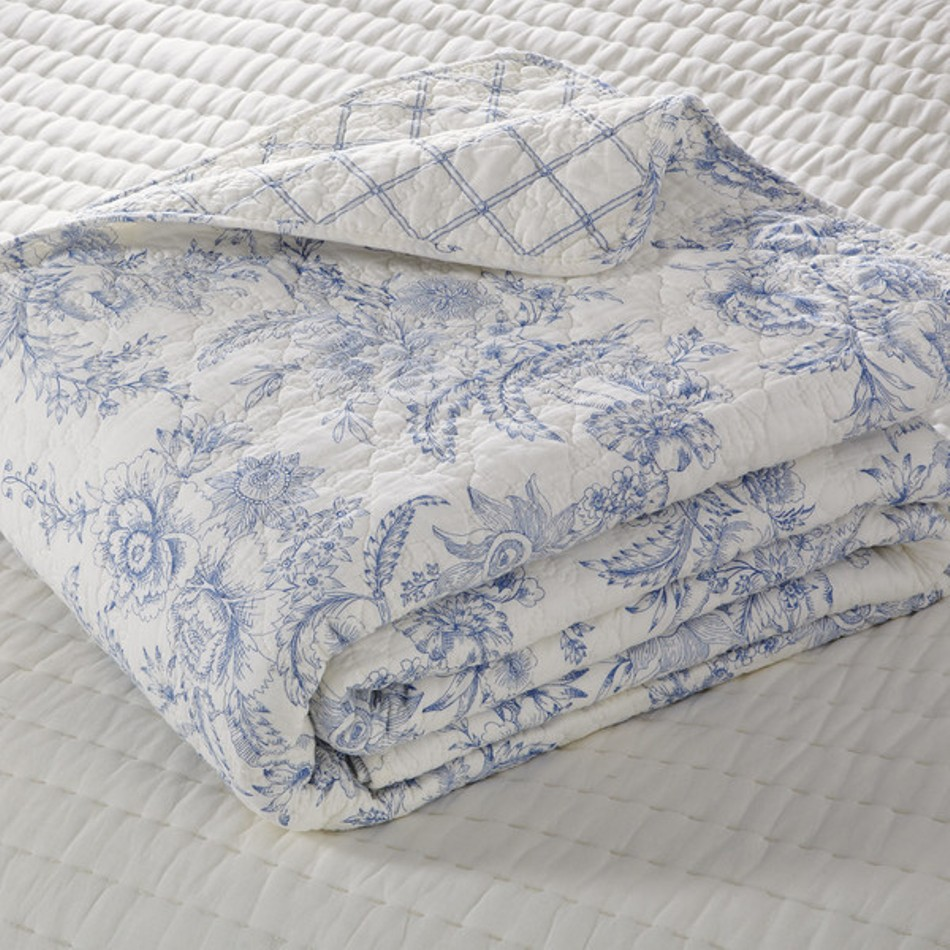 Dusk Blue Toile Quilt by Williamsburg : williamsburg quilts - Adamdwight.com