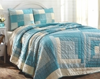 Coastal Sea Cottage Aqua Quilt Set
