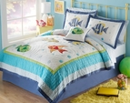 Colorful Sea Tropical Fish Beach Quilt Set