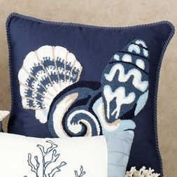 Conch Shell Pillow by Eileen Rosenfeld