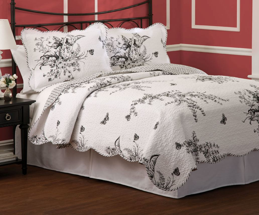 Country Meadow Black White Toile 6
