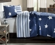 Country Star Quilt - Blue