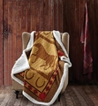Country Western Horse Sherpa Throw