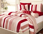 Courtney Red Stripe Quilt