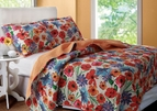 Crimson Crush Floral Quilt Set