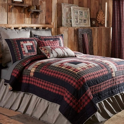 Cumberland Lodge Red Plaid Quilt