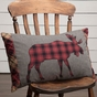 Cumberland Moose Plaid Acent Pillow