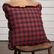 "Cumberland Red Black Buffalo Plaid 18"" Acent Pillow"